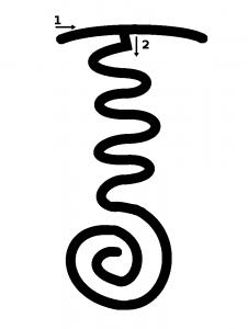 nin giz zida, ou serpent de feu, symbole reiki tibétain